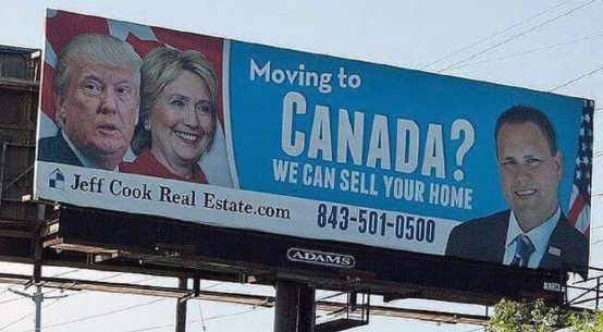 Moving to Canada billboard