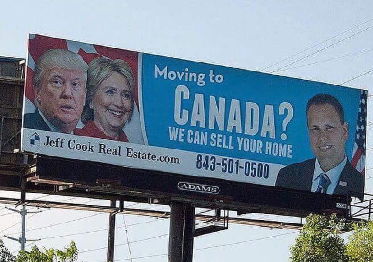 Moving to Canada billboard