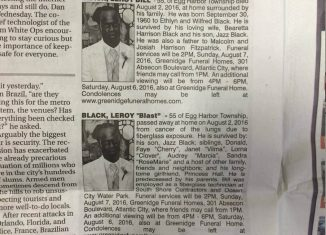 Leroy Black's two obituaries