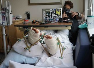 Anthony Booth Armor in the hospital
